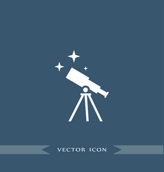 telescope icon education vector image