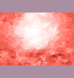 Trendy coral pink geometric triangle pattern vector