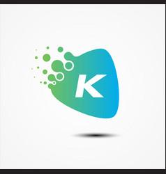 triangle design with k letter symbol design vector image