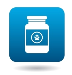 Veterinary medicament bottle icon simple style vector