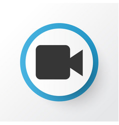 video icon symbol premium quality isolated vector image