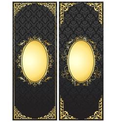 vintage gold banners set vector image
