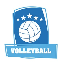volleyball emblem design vector image