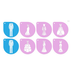 Wedding cake stencil vector