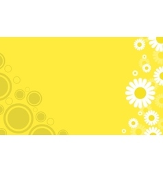 Yellow background with flower spring vector image