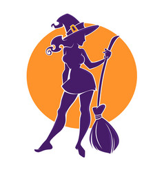 Young happy and attractive witch image for your vector