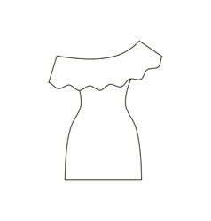 Dress path vector image vector image