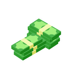 flat icon of money stacks of banknotes vector image vector image