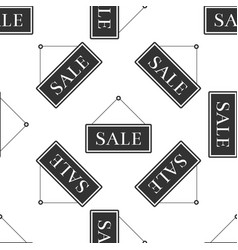 hanging sign with text sale icon seamless pattern vector image vector image