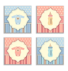 happy birthday and baby shower greeting and vector image