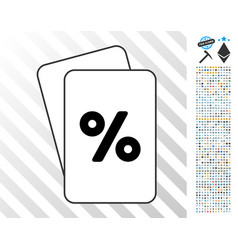 percent cards with bonus vector image