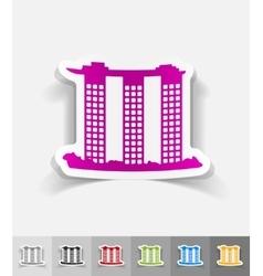 realistic design element singapore building vector image