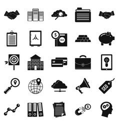 stockjobber icons set simple style vector image