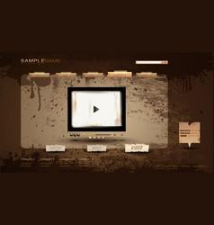 vintage portfolio website vector image