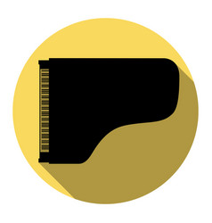 concert grand piano sign flat black icon vector image