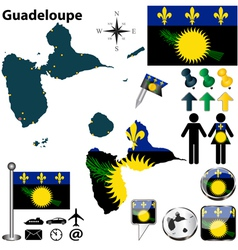 Guadeloupe map vector image vector image