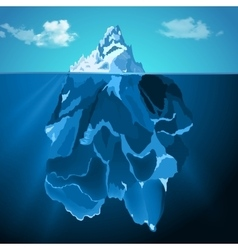 Iceberg in water photo realistic background vector image