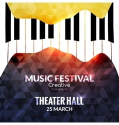 Music festival poster background Jazz piano music vector image vector image