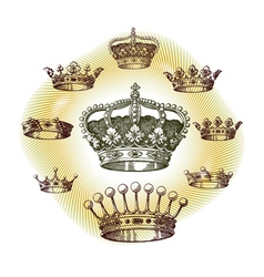 old crown set vector image