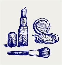 Cosmetics set for fashion design vector image vector image
