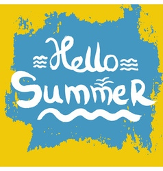 Creative graphic for summer Watercolor vector image