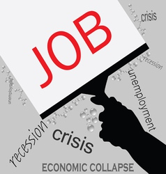 job in recession icon vector image vector image
