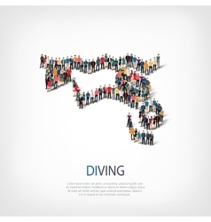 people sports diving vector image vector image