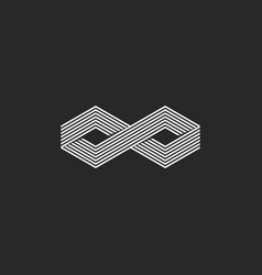 two cubes logo isometric infinite symbol infinity vector image vector image