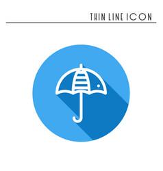umbrella line simple icon weather symbols vector image