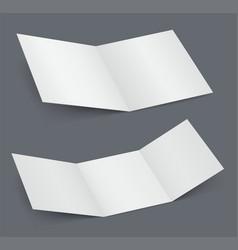 empty open white brochure doubled vector image