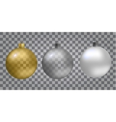 Glass Christmas new-year toy on a transparent vector image