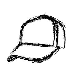 monochrome sketch of baseball cap vector image vector image