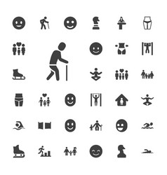 33 figure icons vector