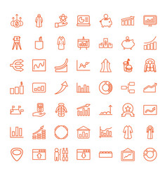 49 infographic icons vector image