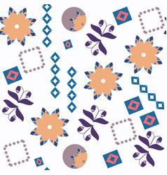 abstract floral fantasu nature seamless pattern vector image