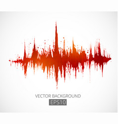 Abstract grunge background with amplitude vector