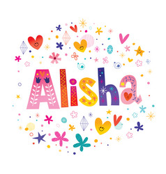 Alisha girls name vector