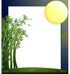 An empty paper template with a moon vector