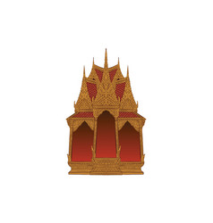Angel house in thai traditional painting vector