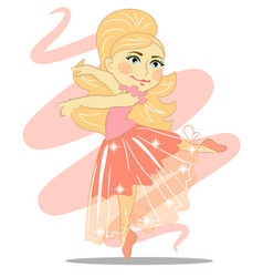 beautiful girl ballerina with a transparent skirt vector image