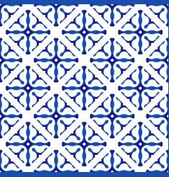 Blue and white indigo pattern vector