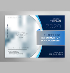 blue corporate presentation template or brochure vector image