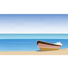 boat beach vector image