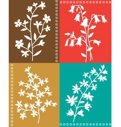Botanical floral vector