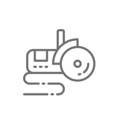 Bulgarian saw angle grinder line icon vector