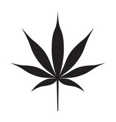 cannabis black silhouette vector image