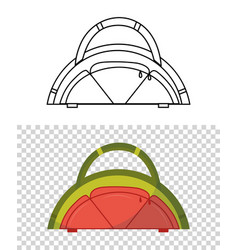 childish cute bag in form a watermelon vector image