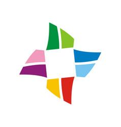 circle shape colorful logo vector image
