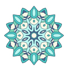 Circular decorative ornament arabic pattern vector