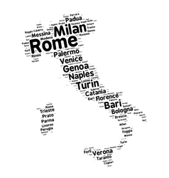 Cities of Italy word cloud vector image